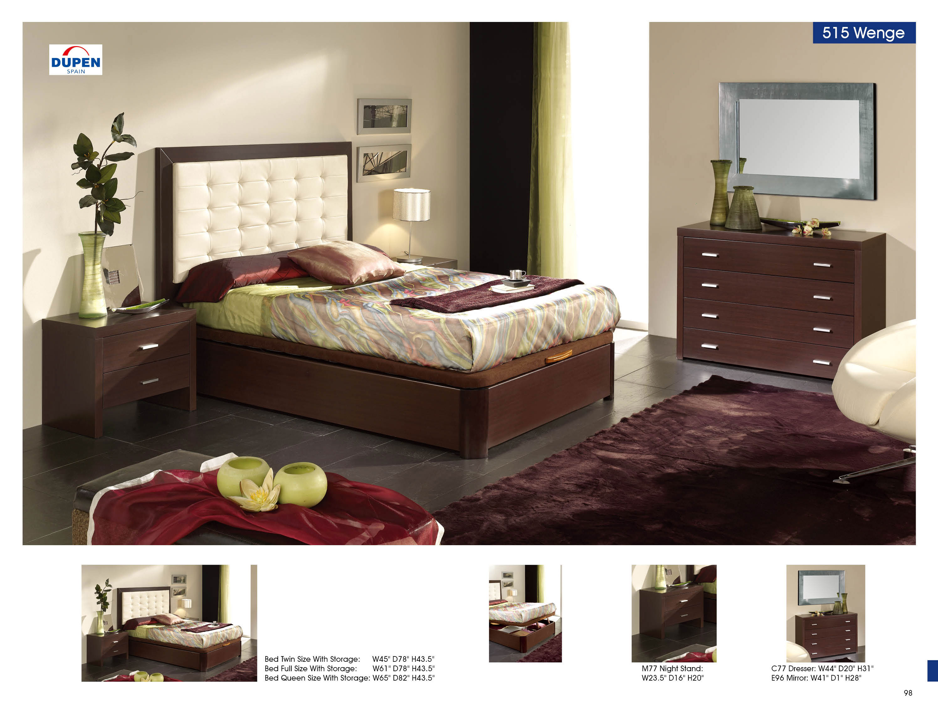 alicante 515 wenge m77 c77 e96 twin size beds bedroom furniture