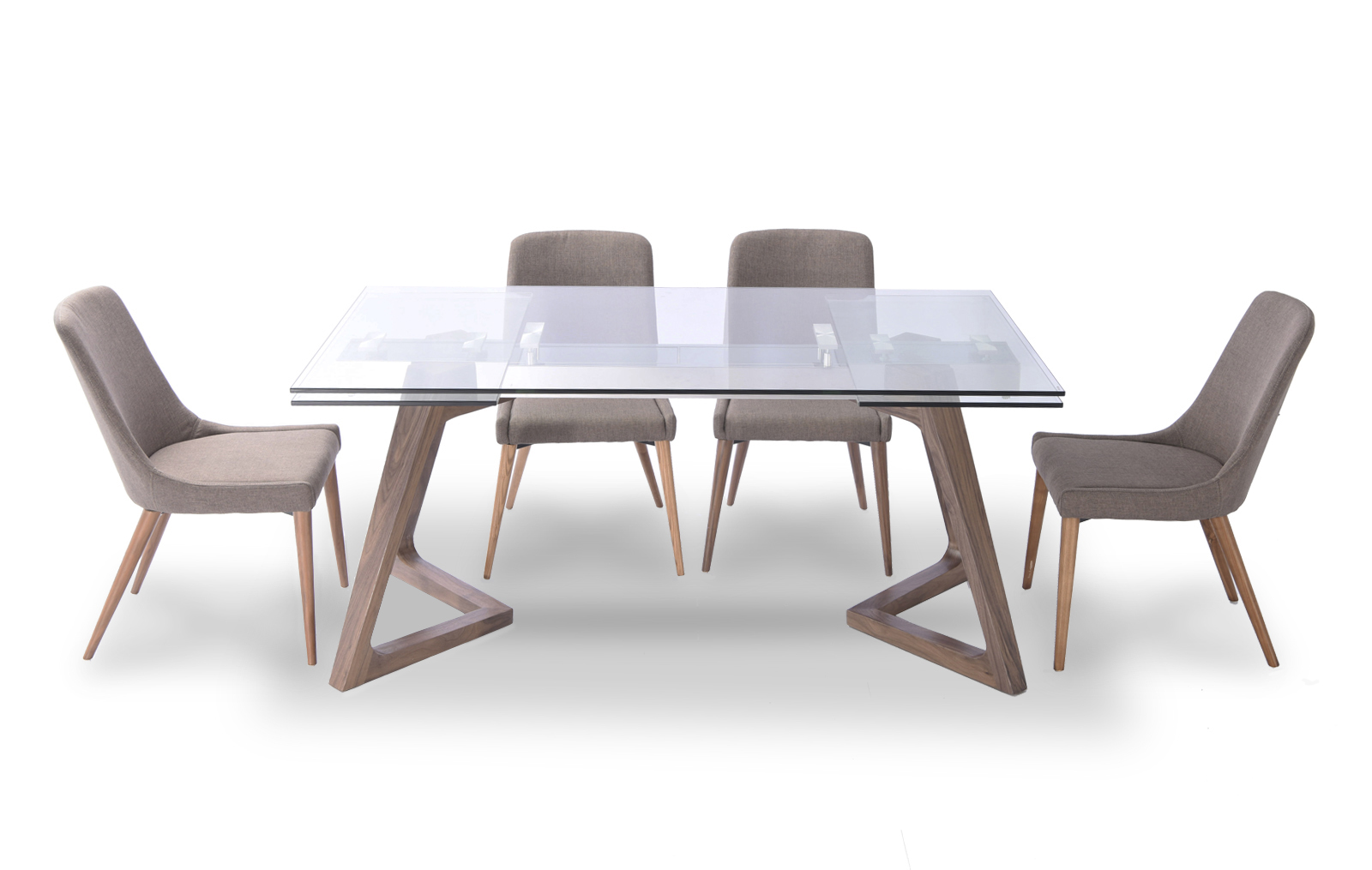 8811 table and 941 chairs modern casual dining sets for Casual dining room chairs
